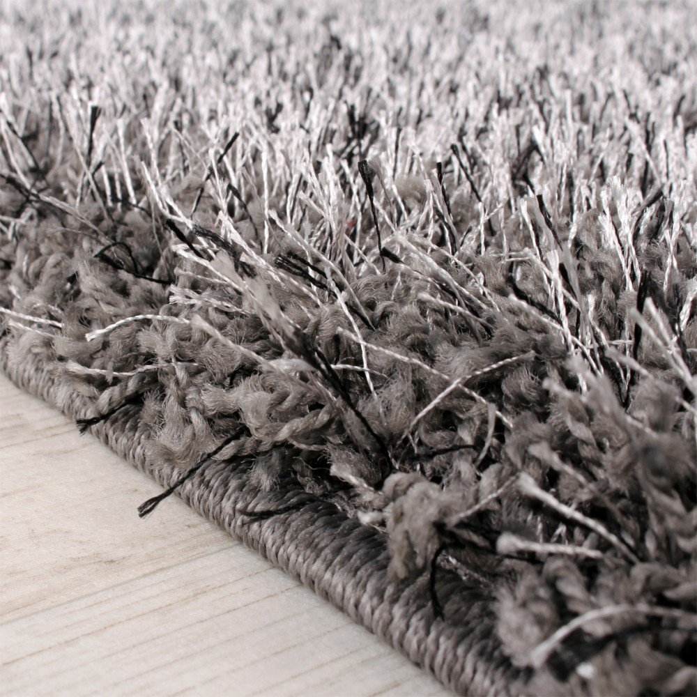 Teppich hochflor  Shaggy Teppich Hochflor Langflor leicht Meliert Qualitativ u ...