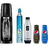 Sodastream Pack Spirit avec Machine à Eau Pétillante et Soda Spirit Noir, 2 Bouteilles FUSE en PET 1 L dont 1 Bouteille Pepsi