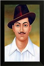 EK Number Bhagat Singh Design Framed Painting(Size 22CM x 3CM x 30CM)