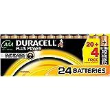 Duracell DUR019058 Plus AAA batterijen Single 24x Duracell Plus zwart, koper.
