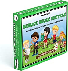 WondrBox educational toy -  Reduce Reuse Recycle (4-in-1 ) learning games for 8 year old, Multicolor