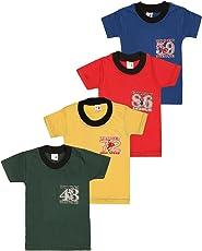 SR Kids Boys Cotton Half Slevee Tshirts(Pack of 4)