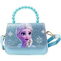 K-ONESEEYOU Elsa Mädchen Taschen Die Eiskönigin 2 Anna und Elsa Frozen Spielzeug Kinder Schultertasche Pailletten…