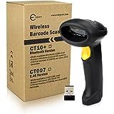 Esky kabelloser Handheld-Barcode-Scanner für Windowsgeräte, (24G, 32-Bit-Decoder, 1500mAh Akku, 256K Speicher)