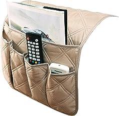 IPENNY divano divano bracciolo organizzatore da letto TV Remote Holder Storage Bag tasca per il cellulare tablet Notepad Book riviste DVD Eyewears drinker spuntini del sacchetto