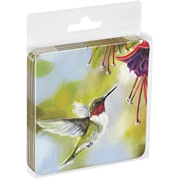Chorus Line Themed Birds Art Tree-Free Greetings Set Of 4 Cork-Backed Coasters 3.75 x 3.75 Inches 52506