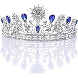 Pixnor Fiesta Corona del Rhinestone cristal decoración diadema velo Tiara nupcial de boda