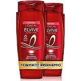 L'Oréal Paris Shampoo Protezione Colore con estratto di peonia rossa e filtro UV, Confezione da 2 x 700 ml