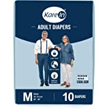 "Kare In Adult Diapers Medium 10 Count, Waist Size 76-114cm (30""-45"")"
