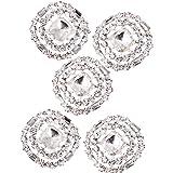 5 Botónes de Cristal Diamante Redondos de 23mm Artesanía Costura Manualidad Coser Ropa Mochila Bolsa Decor