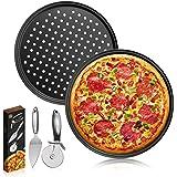 Pizzaplaat,Pizza Pan,Pizzablek/Pizza bakset/Pizza Bakplaat/Oven Pizza Bakplaten/Pizza Tray/Pizza Plate Set van 2 anti-aanbak