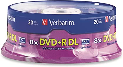 Verbatim DVD+R DL 8.5GB 8X Surface - 20pk Spindle