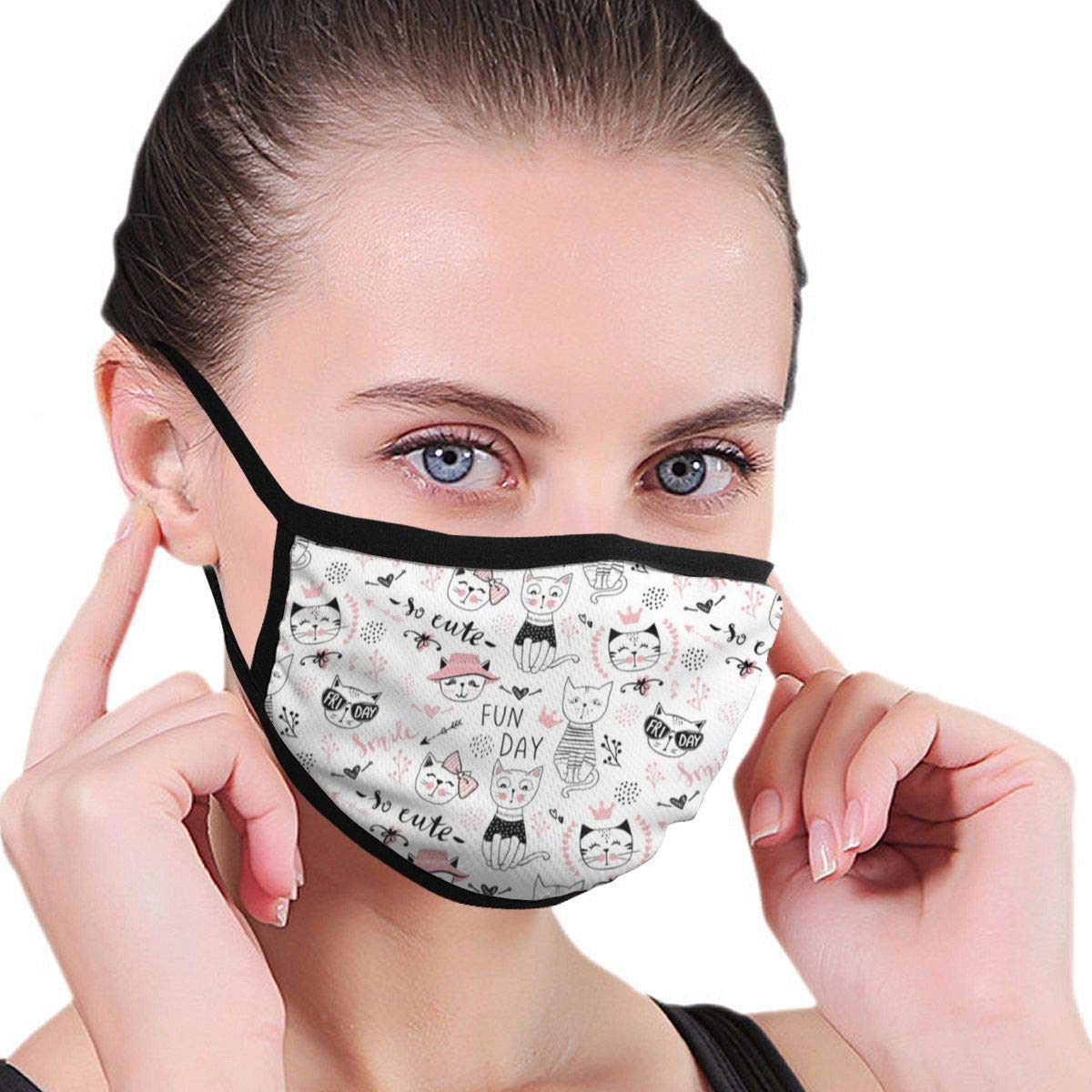 Bdwuhs Mascarillas Bucales Earloop Half Washable Reusable Mouth Mask Cotton Anti Dust Half Face Mouth Mask For Men Women Dustproof with Adjustable Ear Loops