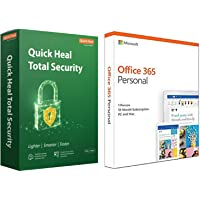 Quick Heal Total Security Latest Version - 2 PCs, 3 Years (DVD)&Microsoft Office 365 Personal for 1 user (Windows/Mac…