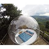 INFLATELINES Tenda a Igloo Bolla Gonfiabile Trasparente Cupola a 360 ° con aeratore Perfetto per Campeggio all'aperto Esposiz