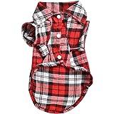 BODHI2000 ®, camicia a quadri per animali domestici, cappottino per cucciolo di cane, maglietta, abbigliamento