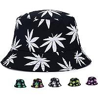 Weed Bucket Hat Marijuana Unisex   Sun UV Cannabis Leaf Hats Foldable