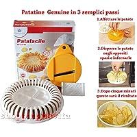 Patafacile  attrezzo per realizzare Patatine chips senza oli ne grassi in Microonde