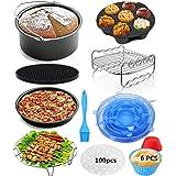 Accessoires Pour Friteuses à Air 8 Pouces Pour Friteuse à Air Gowise Phillips Cozyna Airfryer 4.5-6.5l,Accessoires De Friteus