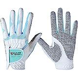 Guantes de golf PGM para mujeres, 1 par (4opciones de color), sistema de agarre mejorado, fresco y cómodo