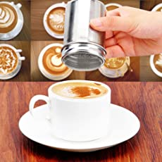 Rrimin 1 Pcs Stainless Steel Chocolate Shaker Icing Sugar Powder Cocoa Flour Coffee Sifter Cooking Tools Lid Chocolate Shaker Cocoa