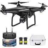 Potensic D58 Drohne mit 4K Kamera für Erwachsene, 5G WiFi HD Live Video, GPS Auto Return, RC Quadcopter für Erwachsene, tragb
