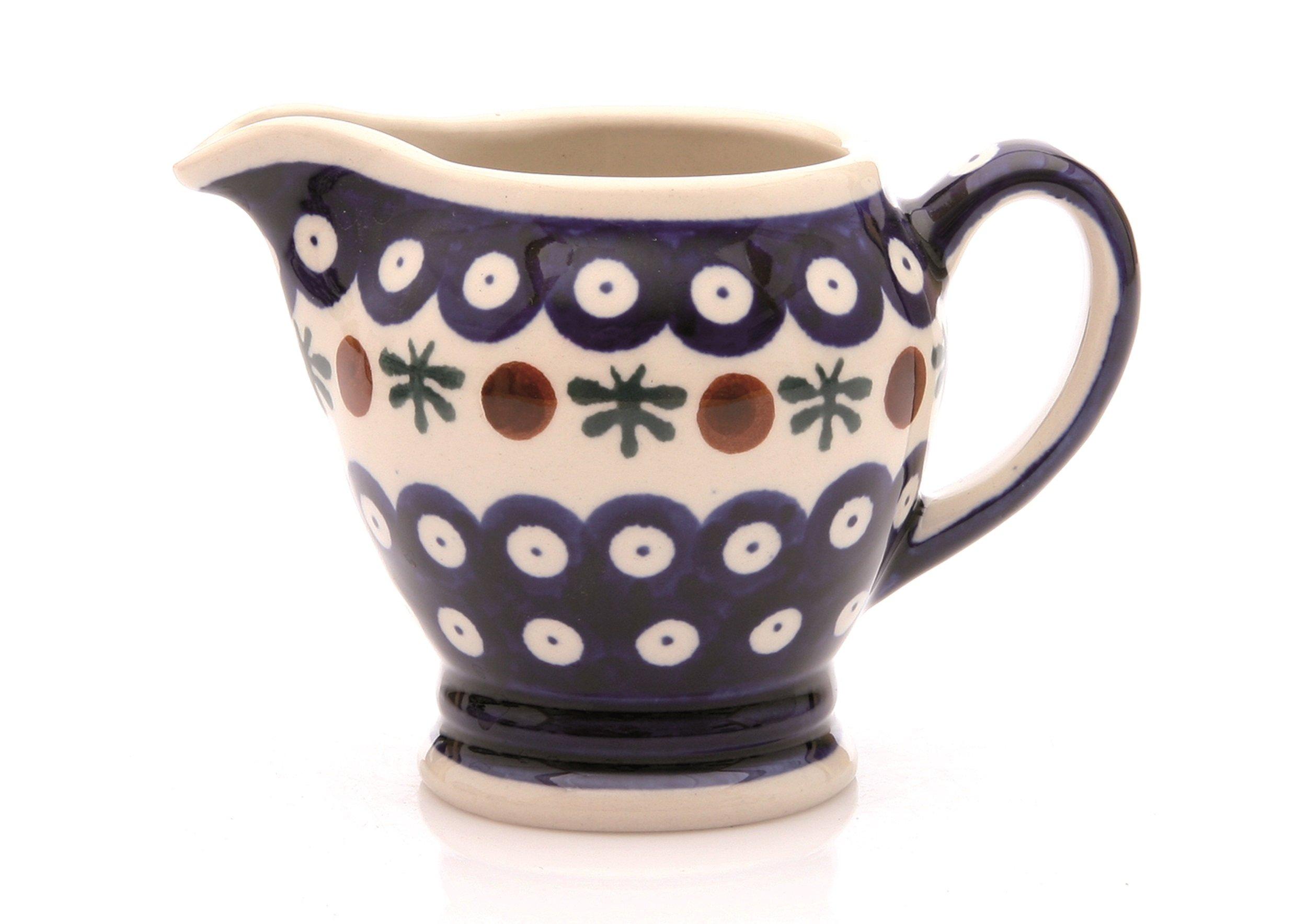 Hand-Decorated Polish Pottery Cream Jug, 0.18Litre ø12.5cm, height 8.8cm 41