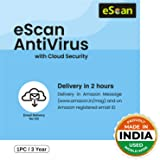 eScan 1 User 3 Year Antivirus with Cloud Security (Email Delivery - No CD)