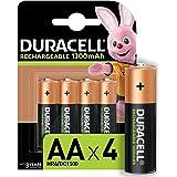 Duracell Pilas Recargables AA 1300 mAh, paquete de 4