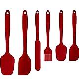 Spatule Silicone de Cuisine Lot de 6, Résistantes à la Chaleur Qualité Alimentaire Ustensiles en Silicone Antiadhésif pour la