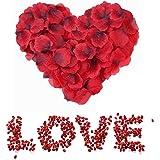 3000 Pezzi Petali di Rosa Rossa, Petali di Fiori Finti Rossa, Petali di Rose Rosse Regali Decorazioni per Notte Romantica, Ma
