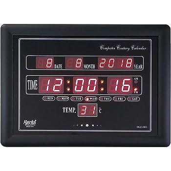 Buy Ajanta Quartz Plastic Digital Clock 282 Cm X 264 Cm X 42 Cm