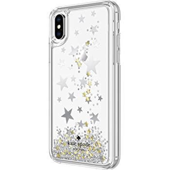 Kate Spade New York Liquid Glitter Case for iPhone X - Stars Silver Gold  Foil bbf2aed2ee88