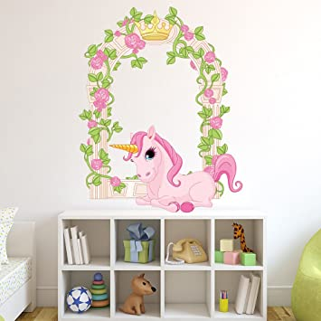 Flower Unicorn Wall Sticker Fantasy Wall Decal Girls Bedroom Nursery Decor  Available In 8 Sizes X Large Digital: Amazon.co.uk: Kitchen U0026 Home