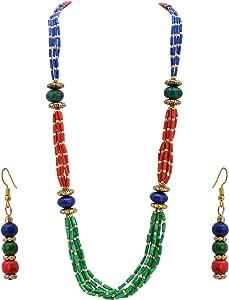 Zephyrr - Set di gioielli tibetani fatti a mano, multifilo