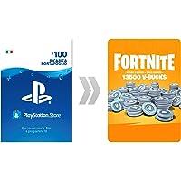 PSN Credito per Fortnite 13500 V-Bucks | Codice download per PS4 - Account italiano