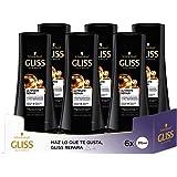 GLISS - Acondicionador Ultimate Repair - 6uds de 370ml (2.220ml) – Para cabello muy dañado – Gama ultra reparación