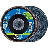 PFERD POLIFAN-Z-BOX - 10 x lamellenschijf 125 mm, Z60, 22,23 mm boring, 69300935 - voor hoge verspaningsprestaties en solide