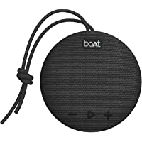 boAt Stone 190 Portable Wireless Speaker with 5W Sound, Bluetooth V5.0, IPX7 Water & Splash Resistance, Lightweight Build, TWS Feature and Carry Strap (Black)