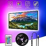 Ruban LED TV 3M, SHOPLED Bande LED RGB avec Télécommande,Bandes LED Lumineuse pour 40-60pouces Télévision, USB 5050 Bandes LE