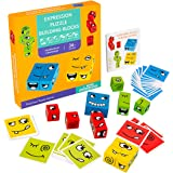 Giocattoli Educativi Cartone, Animato Cambia Faccia Cubo, Building Block Espressione, Puzzle Montessori Formazione, Logica Gi