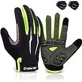 Grebarley Cycling Gloves MTB Gloves with Anti-Slip Shock-Absorbing Pad Breathable,Touchscreen Mountain Bike Road Biking Glove