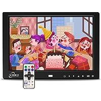 10 Zoll Digitaler Bilderrahmen Full IPS Display 16:10 Elektronischer Bilderrahmen mit Fernbedienung Digital Wecker Uhr…