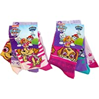 Nickelodeon Paw Patrol 6 paia di calze Skye per bambini, ragazze di diverse taglie