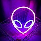 Wanxing Alien Leuchtreklamen LED Neon Wandschild Rosa Blau Neonlichter für Schlafzimmer Kinderzimmer Hotel Shop Restaurant Sp