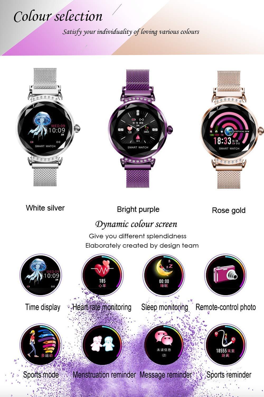 wetwgvsa Fitness Tracker Reloj Pulsera presión Sanguigna pulsómetro de muñeca Actividad Tracker Smartwatch H2 Monitor… 7