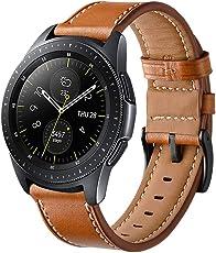 Aimtel für Samsung Galaxy Uhr (42mm) Armbänd, 20mm Lederarmband Handgelenk Ersatz Band Edelstahl Verschluss für Samsung Galaxy Watch SM-R810/R815 Smart Watch