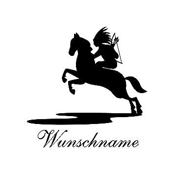 Amazon.de: Wandtattoo Kinderzimmer Nr. 9   Indianer Reiter Jungs Wunschname  Märchen Baby