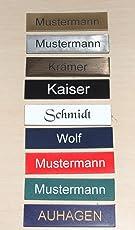 2-Stueck-Klingelschild selbstklebend -Tuerschild-Namensschild-Briefkastenschild-mit-Gravur