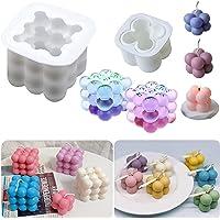 bougies Moule 3D Cube Boule silicone pour Artesanat Ornements Fondant Bougie parfumée soja cire à la main Savon DIY 2PCS